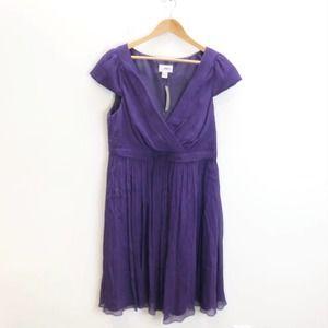 NWT J. Crew Silk Mirabelle Ruched Dress